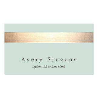 Moda azul clara moderna rayada coloreada oro tarjetas de visita