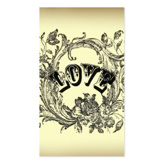 Moda beige de París del amor del tatuaje del Tarjetas De Visita