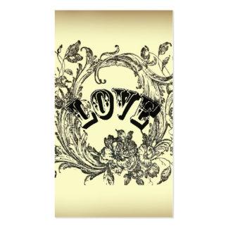 Moda beige de París del amor del tatuaje del vinta Tarjetas De Visita