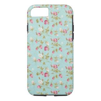 Moda color de rosa lamentable azul de los rosas funda iPhone 7