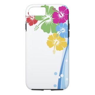 Moda de la flor del hibisco muy bien floral funda para iPhone 8/7