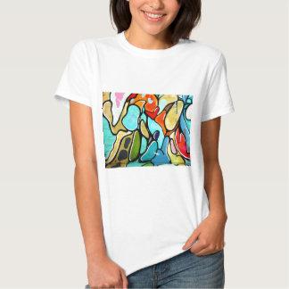 moda de la pintada camiseta