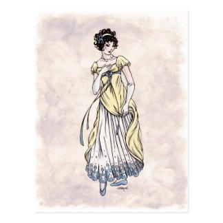 Moda de la regencia - señora #1 - postal