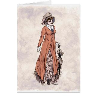 Moda de la regencia - señora #2 - tarjeta del arte