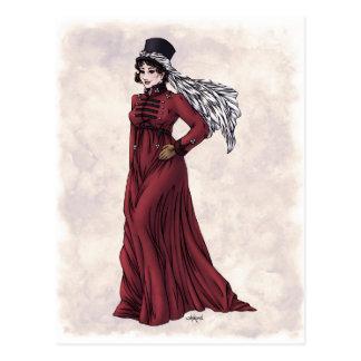 Moda de la regencia - señora #5 - postal