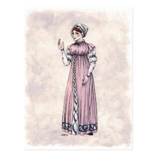Moda de la regencia - señora #6 - postal