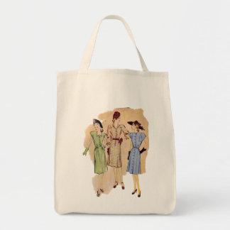 Moda de los años 40 del vintage bolsa tela para la compra