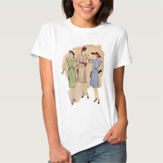 Moda de los años 40 del vintage camisetas