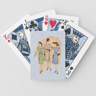 Moda de los años 40 del vintage cartas de juego