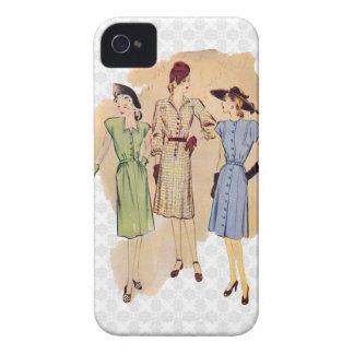 Moda de los años 40 del vintage iPhone 4 Case-Mate cárcasas