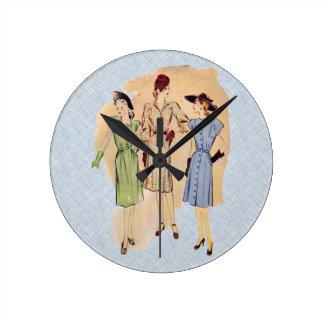 Moda de los años 40 del vintage reloj redondo mediano