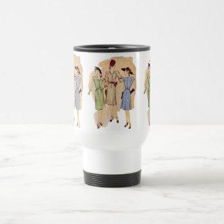 Moda de los años 40 del vintage taza de viaje