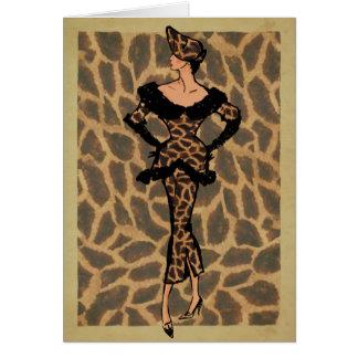 moda de los años 50 tarjeta de felicitación