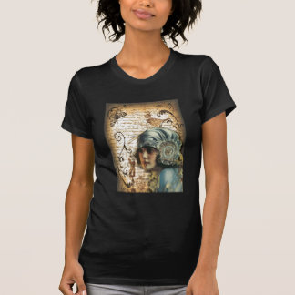 Moda de París del chica de Gatsby del art déco Camiseta