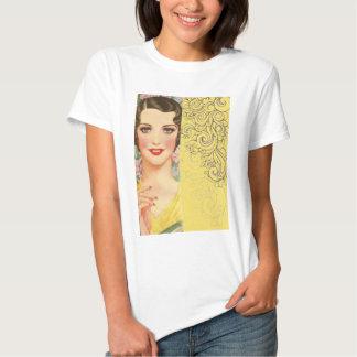 Moda de París del chica de Gatsby del art déco Camisetas