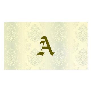 moda de plata del victorian del damasco del plantillas de tarjeta de negocio