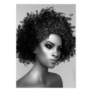 Moda del Afro elegante Tarjetas De Visita Grandes