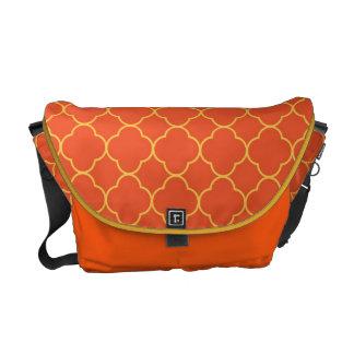 Moda del amarillo anaranjado del modelo del trébol bolsa messenger