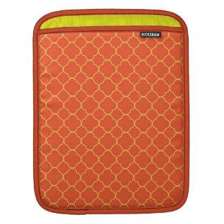 Moda del amarillo anaranjado del modelo del trébol fundas para iPads