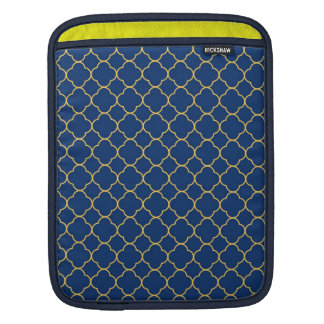 Moda del amarillo de los azules marinos del modelo manga de iPad