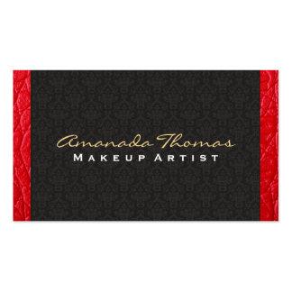 Moda del damasco/del bajo de cuero el |, de lujo tarjetas de visita