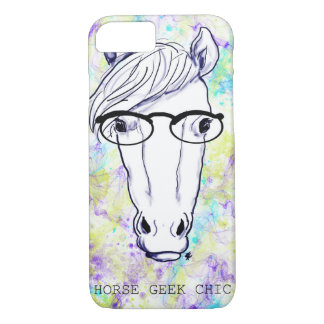 Moda del friki del caballo funda iPhone 7