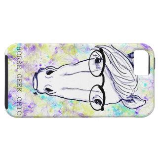 Moda del friki del caballo iPhone 5 protector