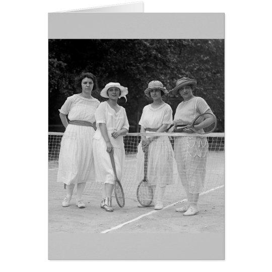 moda del tenis de los años 20 tarjeta de felicitación