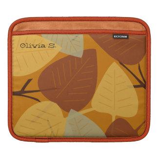 Moda dispersada moderna de la rama del otoño de la funda para iPads