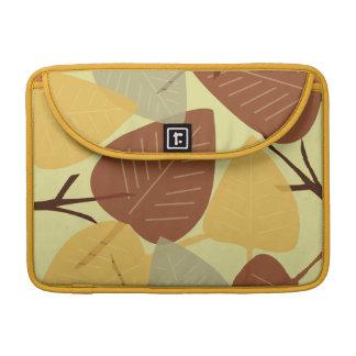 Moda dispersada moderna de la rama del otoño de la fundas para macbook pro