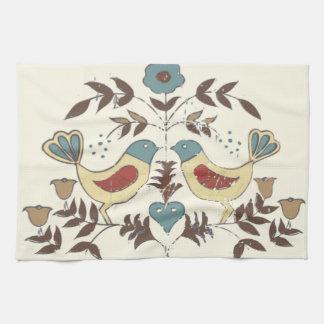 Moda Distlefink de la cabaña de los pájaros de Paño De Cocina