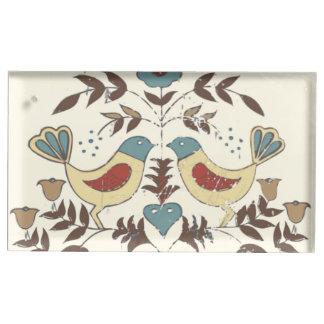 Moda Distlefink de la cabaña de los pájaros de Soporte Para Tarjetas De Mesa