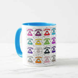 Moda divertida de moda del modelo retro moderno taza