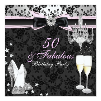Moda elegante 50 y invitación fabulosa del