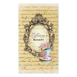 moda elegante de las magdalenas del vintage tarjetas de visita