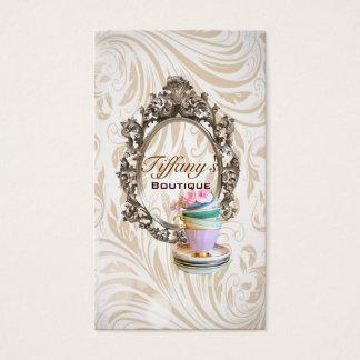 moda elegante de las tazas de té del damasco del tarjeta de negocios