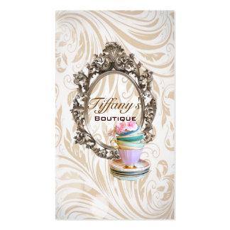 moda elegante de las tazas de té del damasco del tarjetas de visita