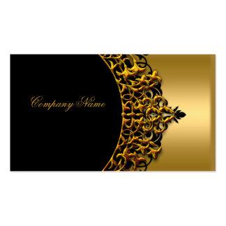 Moda elegante del boutique del oro del negro del o tarjetas de visita