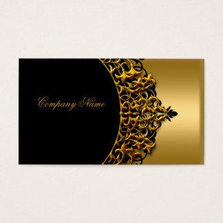 Moda elegante del boutique del oro del negro del tarjeta de negocios