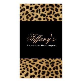 Moda elegante del estampado leopardo tarjeta de visita