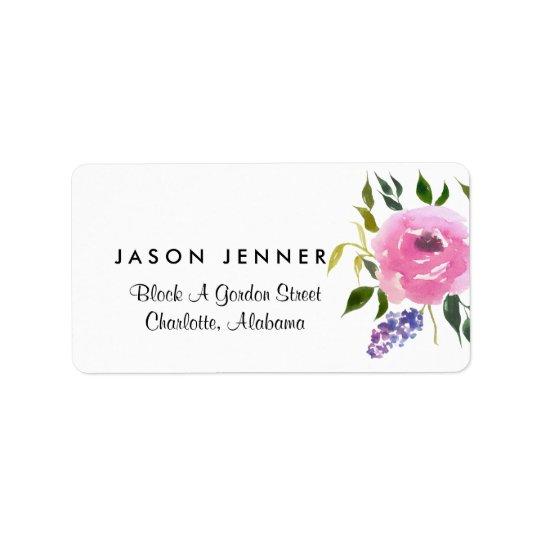 Moda floral del boda del manojo de la acuarela etiquetas de dirección