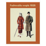 Moda histórica 1928 impresiones