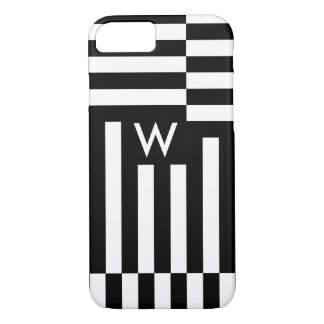 MODA IPHONE7 CASE_MODERN WHITE/BLACK GEOMÉTRICO FUNDA PARA iPhone 8/7