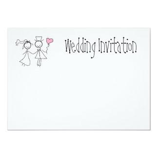 Moda lamentable personalizada invitación del boda