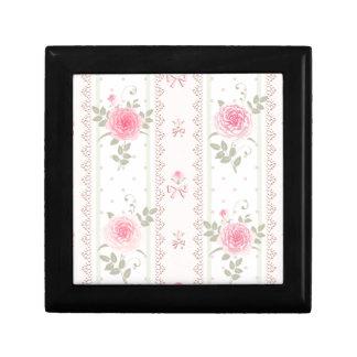 Moda lamentable, victorian, floral, papel pintado, caja de regalo cuadrada pequeña