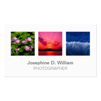 Moda moderna gris blanca de la foto o del logotipo tarjetas de visita