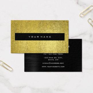Moda negra metálica del amarillo de la mostaza del tarjeta de negocios