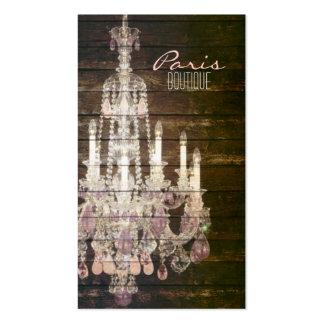 moda púrpura de París de la lámpara del barnwood d Tarjeta De Visita