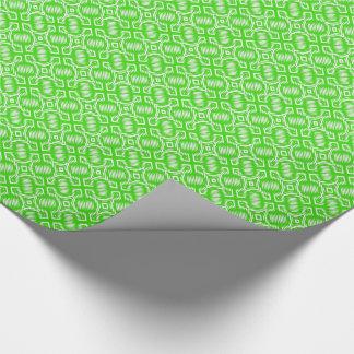 MODA QUE ENVUELVE PAPER_162 GREEN/WHITE GEOMÉTRICO PAPEL DE REGALO