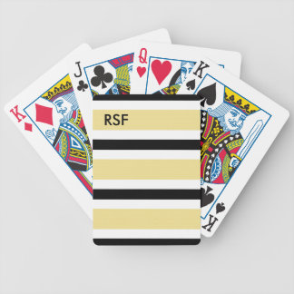 MODA QUE JUEGA CARDS_09 BUTTER/BLACK/WHITE BARAJA DE CARTAS BICYCLE